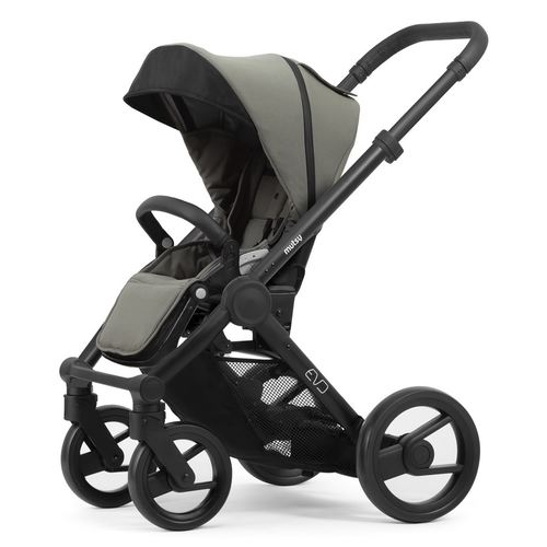 Mutsy Evo Stroller with black frame, Collection 2019 - Bold Dune Grey