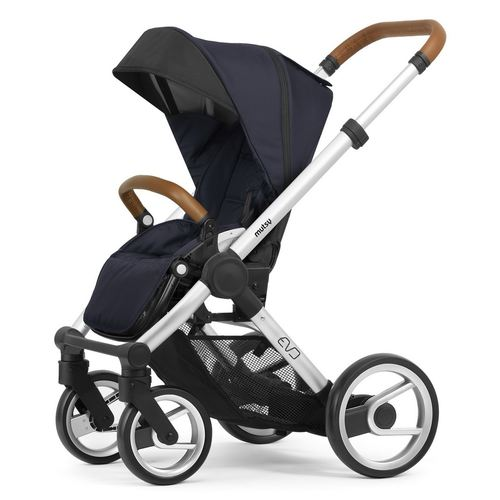 Mutsy Evo Stroller with silver frame, Collection 2019 - Urban Nomad Deep Navy