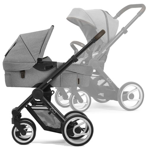 Mutsy Evo Multifunctionstroller with black frame, Collection 2019 - Farmer Mist