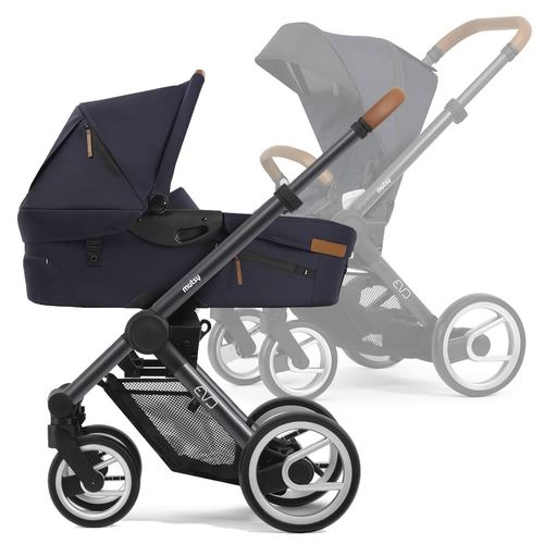 Mutsy Evo Multifunctionstroller with dark grey frame, Collection 2019 - Urban Nomad Deep Navy