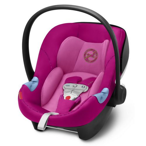 Cybex Aton M I-Size inkl. SensorSafe Gold, Kollektion 2019 - Fancy Pink Purple